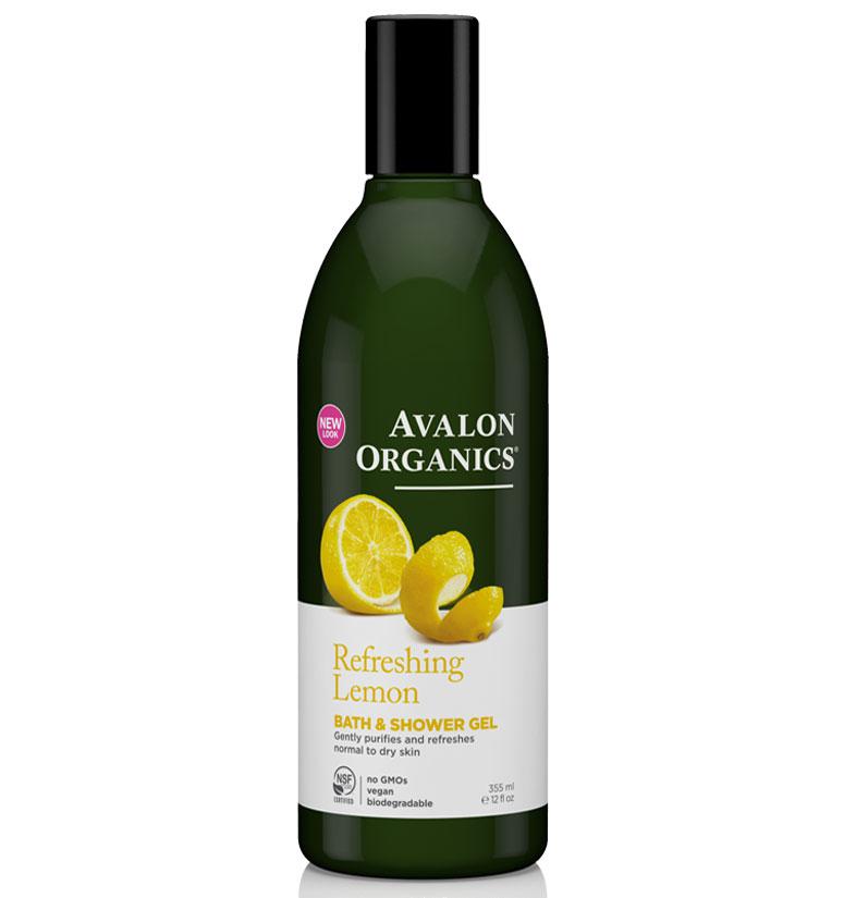 Avalon Organics Refreshing Lemon Bath & Shower Gel 12oz