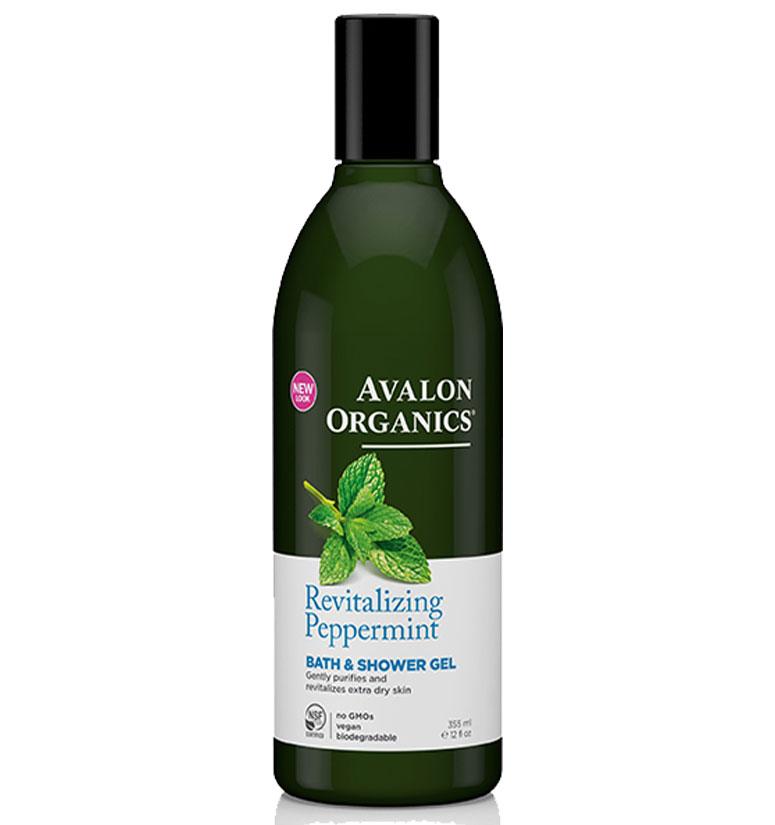 Avalon Organics Revitalizing Peppermint Bath & Shower Gel 12oz