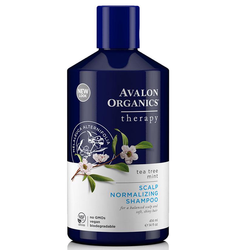 Avalon Organics Scalp Normalizing Tea Tree Mint Shampoo (Blue Bottle) 14oz