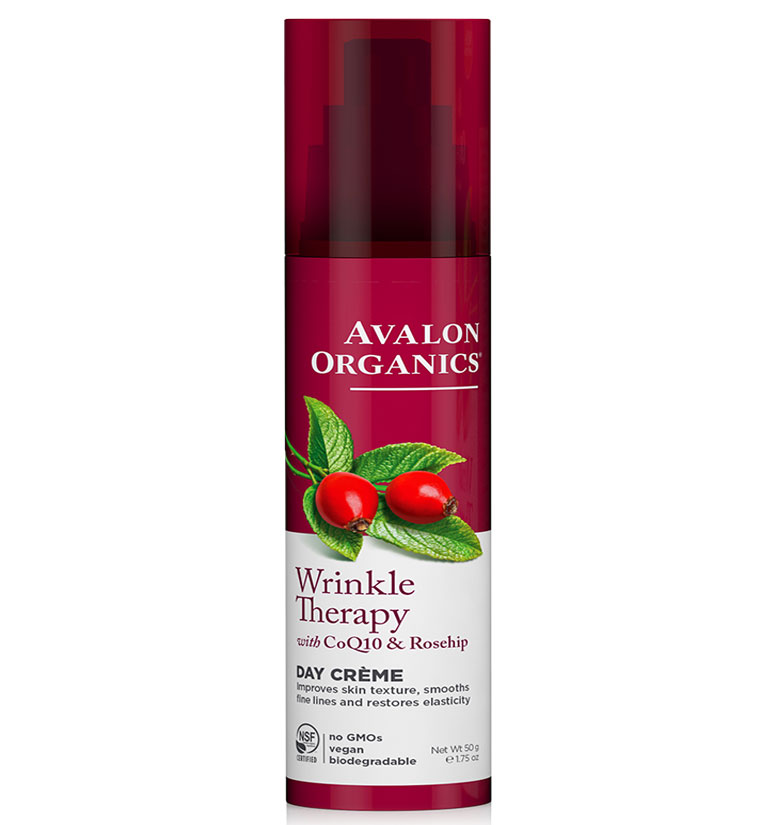 Avalon Organics Wrinkle Therapy With Coq10 & Rosehip Day Creme 1.75oz
