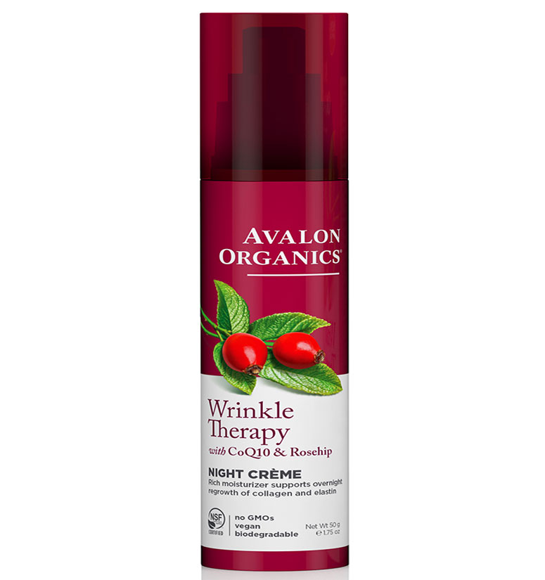Avalon Organics Wrinkle Therapy With Coq10 & Rosehip Night Creme 1.75oz