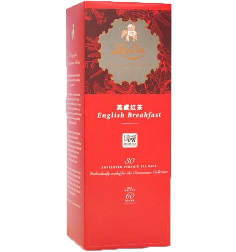 Zesta Pyramid Tea Bags With Envelopes English Breakfast