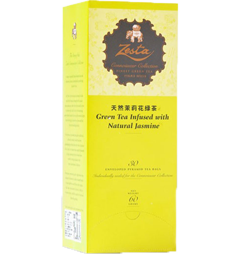 Zesta Pyramid Tea Bags With Envelopes Jasmine Green Tea