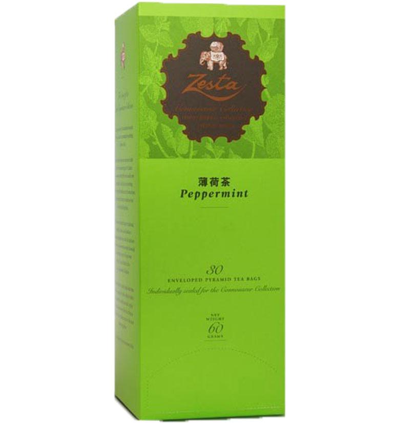 Zesta Pyramid Tea Bags With Envelopes Peppermint